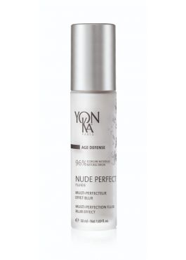 """""""Say goodbye to primers! This day and night fluid is """"THE"""" secret to achieve the perfect skin and the new natural alternative to primers with silicone and paraben. NUDE PERFECT is a new generation of multi-perfecting fluid with immediate blur effect that"""